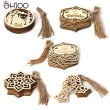 Gihoo 10 шт деревянные висячий подвесное украшение висит подарок