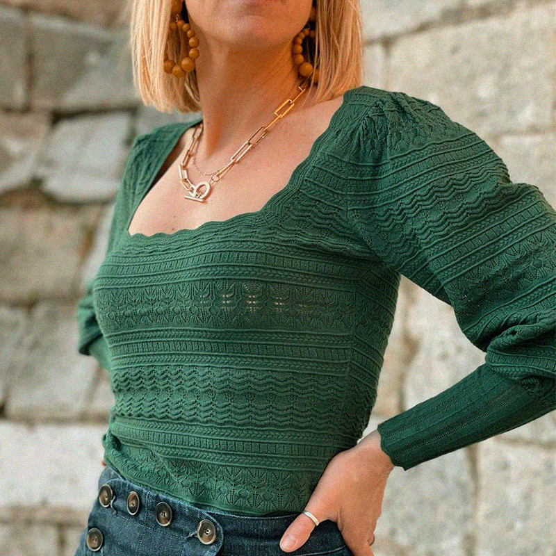 Organic Fancy Knitted Pullover Casual Chic Organic Women's Apparel » Planet Green Eco-Friendly Shop