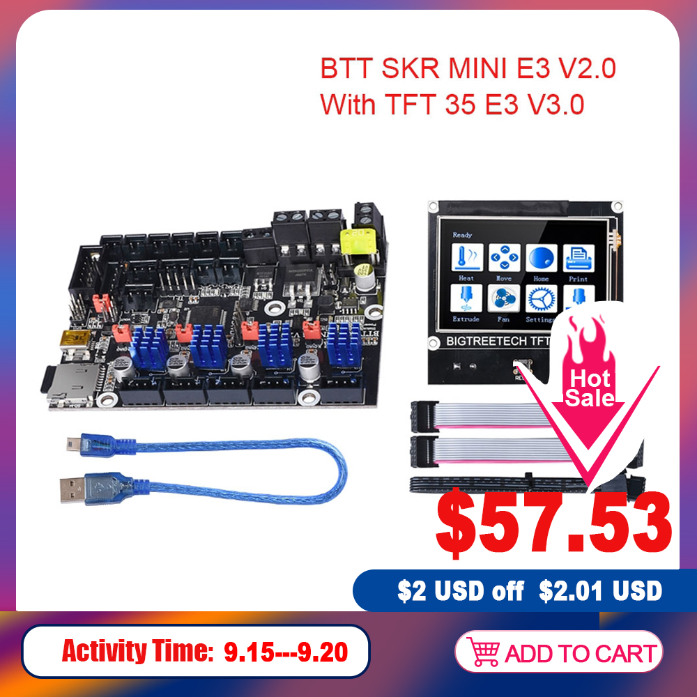 BIGTREETECH BTT SKR MINI E3 V2.0 Board TFT35 E3 V3.0 Touch Screen TMC2209UART TMC2208 For Ender 3 Upgrade CR10 PRo SKR V1.4(China)