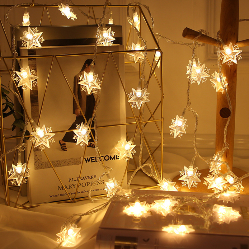 Star Shaped LED Fairy String Lights Home Holiday Christmas Party Wedding Decoration Fairy Lights Event Supplies