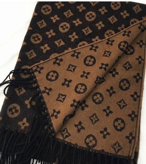 New Fashion Autumn And Winter Pattern Scarf Cashmere Jacquard Fringed Scarf Shawl