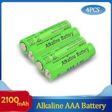 4 pçs/lote nova marca aaa bateria 2100mah 1.5v alcalina aaa bateria recarregável para controle remoto brinquedo luz batery frete grátis