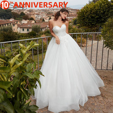 цены OllyMurs 2020 Luxury Wedding Dress Lace Cut-out Sleeveless Tube Top Wedding Dress Support Tailor-made