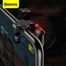 Baseus Gamepad Joystick PUBG için L1 R1 anahtar L1R1 Shooter denetleyici Joypad tetik yangın düğmesi PUBG cep için amacı telefon oyun pedi