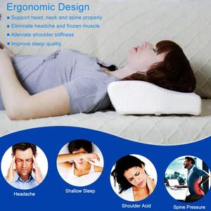 Image 2 - 50*30CM Memory Foam Bed Pillow Butterfly Shaped Cervical Pillow Contoured Wedge Bedding Pillows for Sleeping