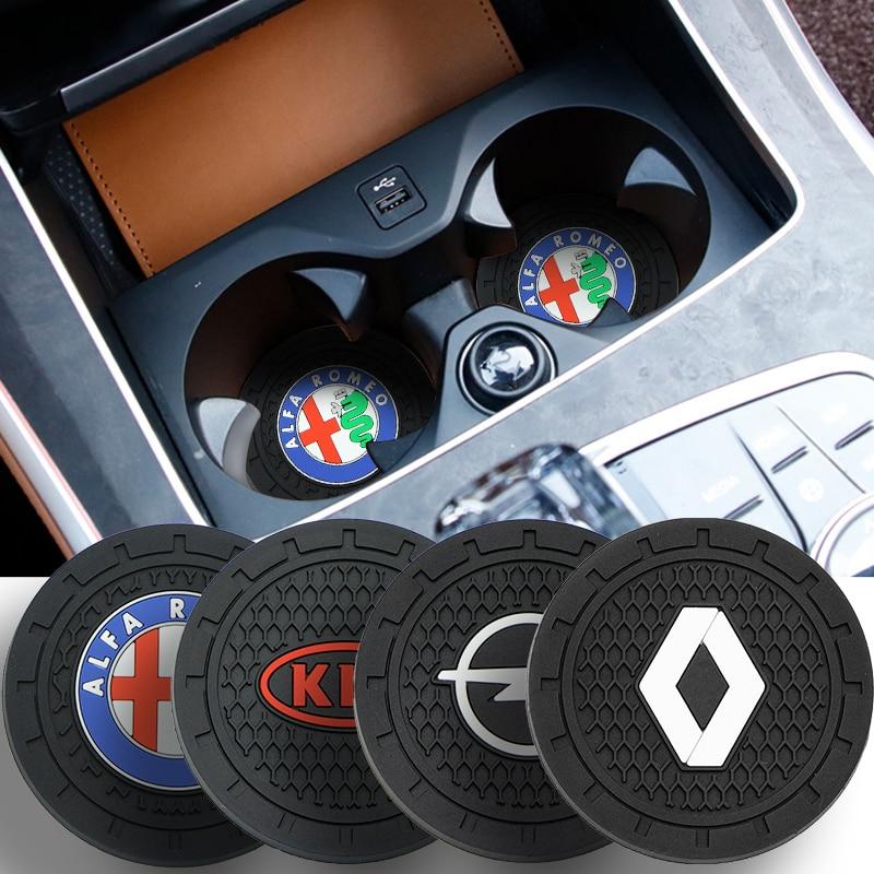 1 шт., Противоскользящий коврик для подстаканника Audi Sline RS TT TTS A4 B8 A3 8P B6 A6 B7 8V Q5 Q7 C5 A5 B5 A7