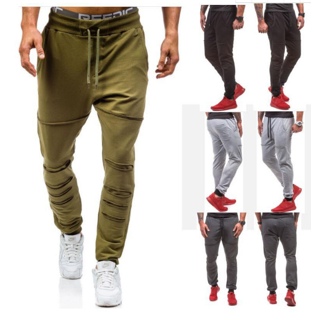 2018 Autumn And Winter New Style Men Slim Fit Joint Casual Pants Po Tong Dual Pocket