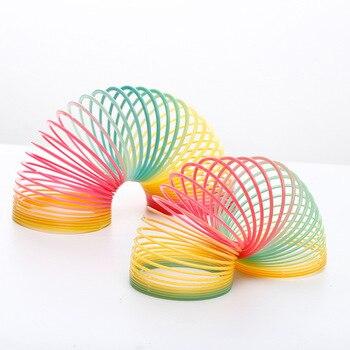 1pcs magic rainbow circle spring coil Jenga fun toys early development education children creative