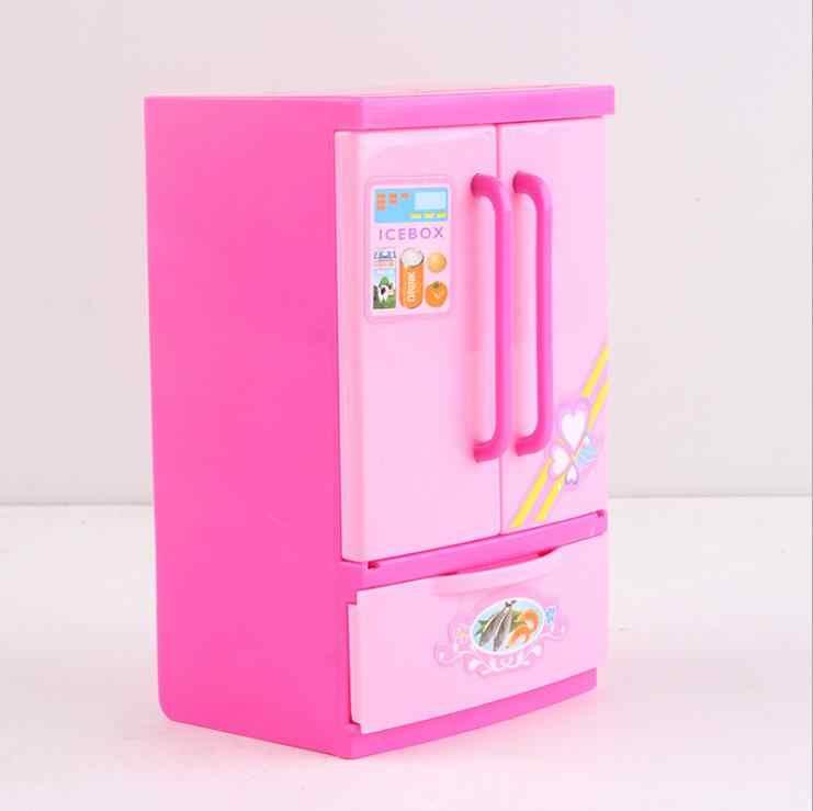 Muebles de Casa barbie de moda, accesorios originales para barbie, nevera, cocina, juego de 1/6, accesorios para muñecas bjd