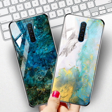Case For OPPO Reno 2 2Z Z Ace Cases Coque Luxury Marble Tempered Glass Phone Cover For OPPO Realme 5 Pro XT X2 A9 A5 2020 Bumper cheap Ojeleye Fitted Case Gradient Tempered Glass Cover For OPPO Realme 5 Pro XT X2 X Lite Cover 6 53 Plain Anti-knock Waterproof