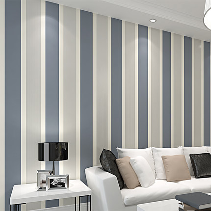 Environmentally Friendly Nonwoven Fabric Vertical Striped Wallpaper Modern Minimalist Bedroom Living Room Television Background