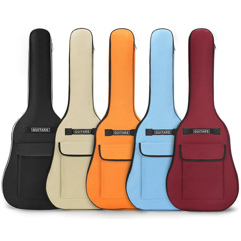40/41 Inch Oxford Fabric Acoustic Guitar Gig Bag Waterproof Backpack 5mm Cotton Double Shoulder Straps Padded Soft Case
