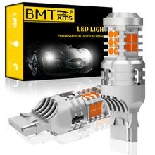 BMTxms 2Pcs T20 W21W 7440 7440NA LED Ligue Luz de Sinalização Lâmpadas Canbus Nenhum Erro de Flash Hiper Livre Âmbar Amarelo new Super Bright