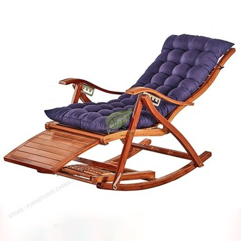 Recliner Rocking Chair Adult Folding Lunch Break Easy Chair Summer Nap Bed Home Balcony Casual Old Lazy Bamboo Chair