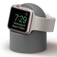 Mais novo macio silicone w2 apple relógio carregador suporte scratch-livre noite quarto suporte de carregamento para apple iwatch série 5 4 3 2 1