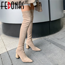 Womens Shoes Boots FEDONAS Over-The-Knee Wedding Winter Clasic Night-Club Sexy Fashion