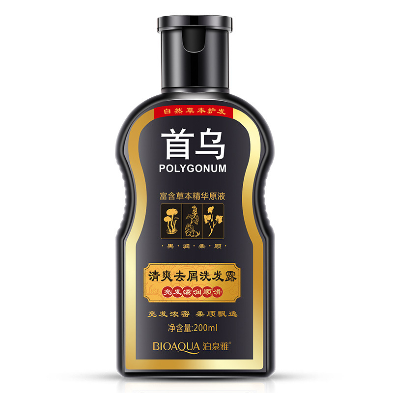 200 ml Polygonum multiflorum black hair shampoo Gleditsia natural shampoos hair care repair oil control anti-dandruff cream