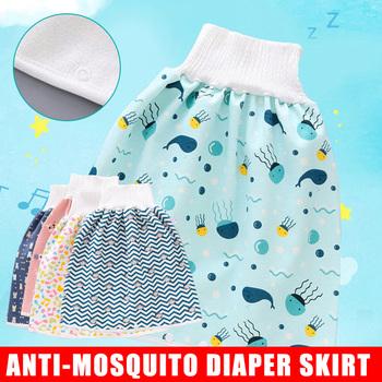Wygodne spodenki na pieluchy dla dzieci 2 w 1 wodoodporne szczelne zmywalne spodnie dla niemowląt Kid Diaper ASD88 tanie i dobre opinie Pasuje prawda na wymiar weź swój normalny rozmiar Trouser skirt
