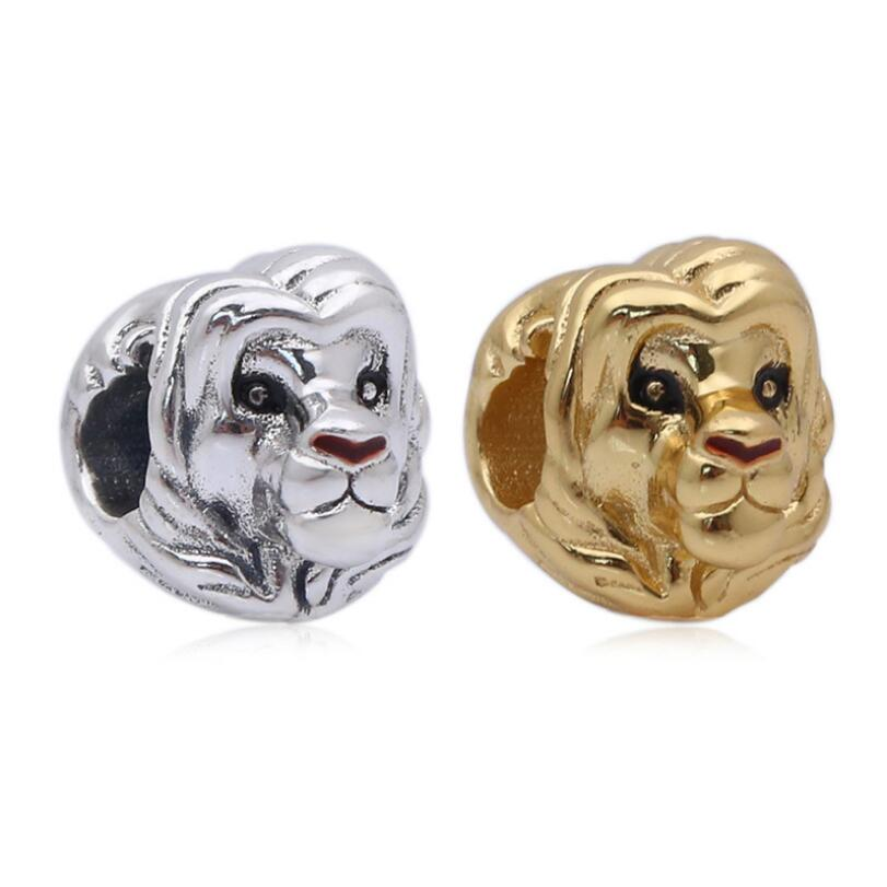 925 sterling silver beads DIY accessories New lion king simba string ornaments Fits Pandora Jewelry making