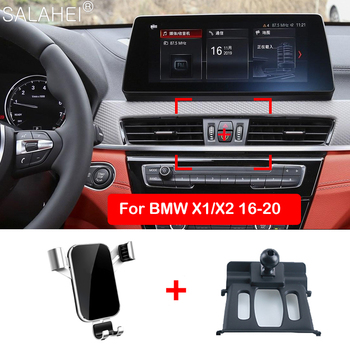 Gravity Car Phone Holder Adjustable Air Vent Mount Bracket For BMW X1 F48 / X2 F39 2018 2019 GPS Phone Holder Accessories image