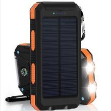 Solar Power Bank 20000 mah quick charge Waterproof External Battery Backup Power bank Phone