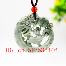 Jewelry Pendant Tiger-Necklace Amulet Jade-Dragon Sweater-Chain Carved Chinese Natural