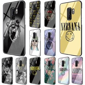 Чехол для телефона из закаленного стекла с логотипом EWAU Nirvana для Samsung Galaxy S7 edge S8 9 10 Plus Note 8 9 10 A10 20 30 40 50 60 70