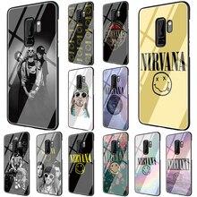 EWAU Nirvana LOGO Tempered Glass Phone Cover Case For