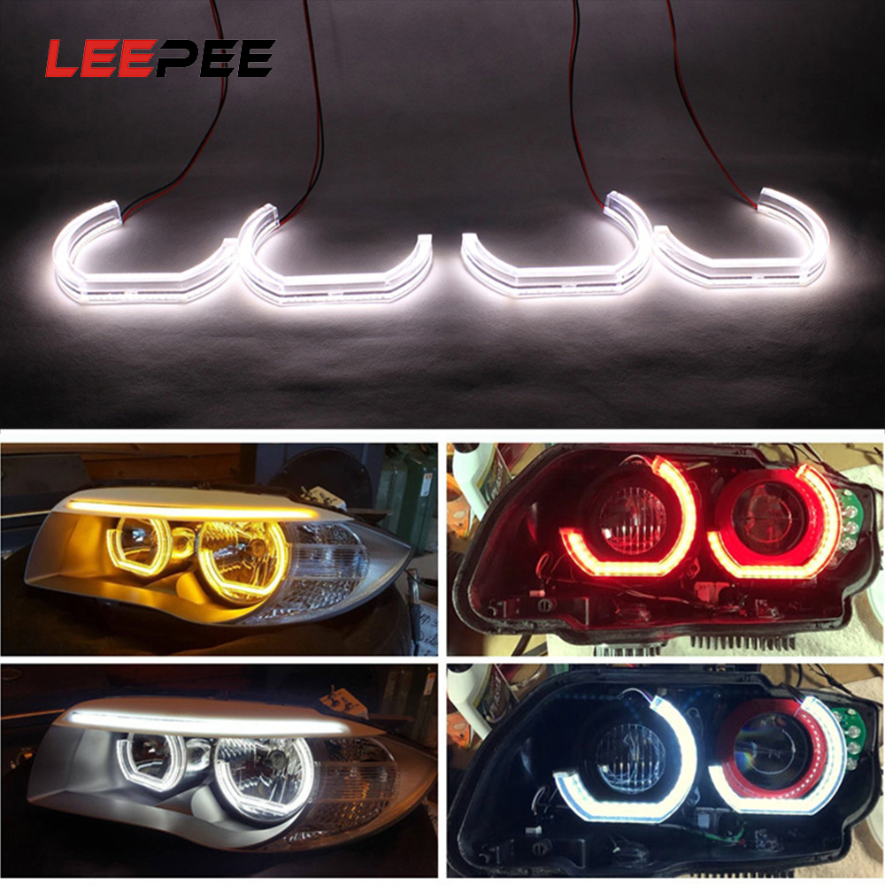 LEEPEE For BMW E90 E92 E93 F30 F35 E60 E53 DRL Marker Lights LED Angel Eyes Car Daytime Running Light Auto Accessories