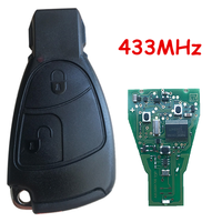 433mhz remoto carro chave fob 2 botões para mercedes para benz c e ml classe sprinter placa de circuito controle keyless