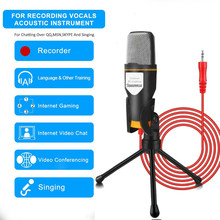 3.5 Computer Condenser Microphone Plug & Play With Tripod Stand For Chatting/Skype/YouTube/Recording/Singing/Gaming/Podcasting tyless usb plug computer tabletop omnidirectional condenser boundary conference microphone for recording gaming skype voip call