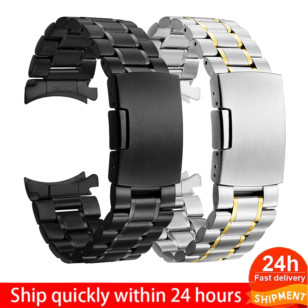 Samsung Galaxy 46 Gear S3 Classic Frontier Watch Band 22mm Stainless Steel Strap For Wrist 20mm  Bracelet Silver Quick Release