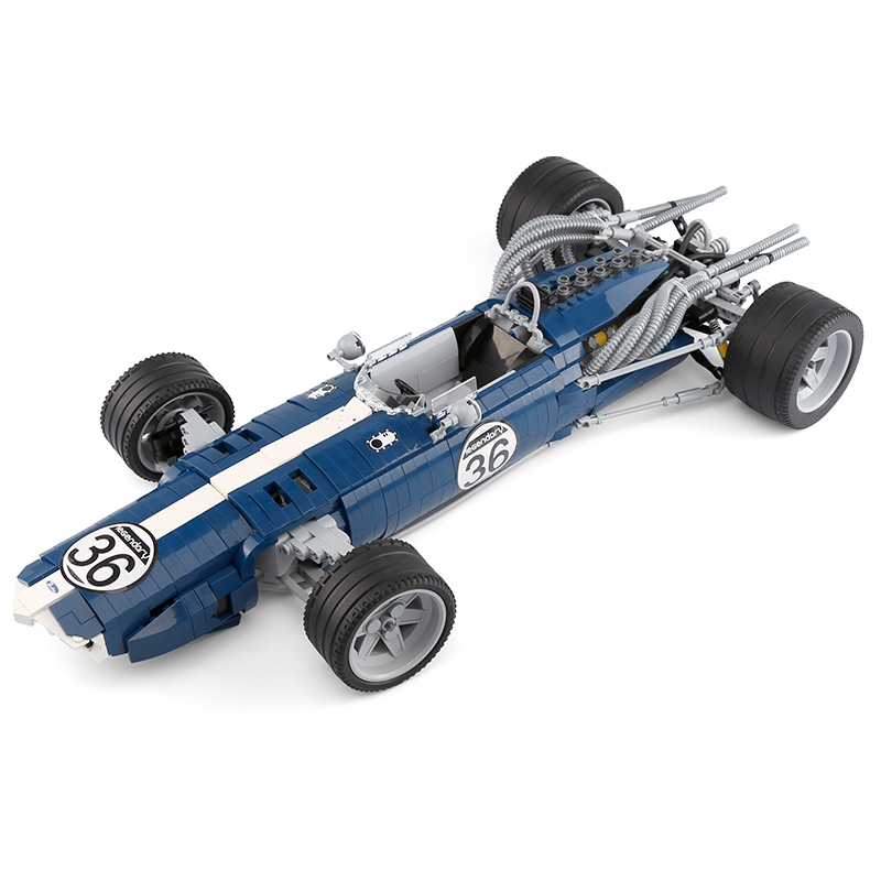 1758PCS MOC Technic Genuine The Blue Formula Racing F1 F40 Car Set Building Blocks Bricks Model Funny Toys Compatible Legoinglys