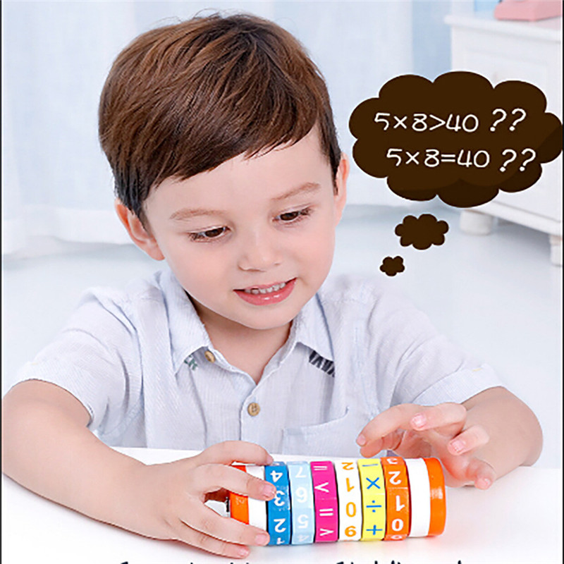 Puzzle Arithmetic Cube New Children Kids Mathematics Numbers Magic Cube Toy Puzzle Game Gift #3D06