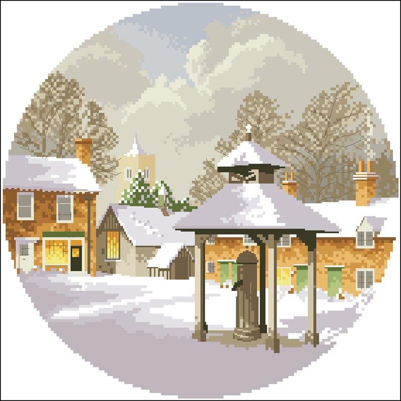H winter village 冬天村庄