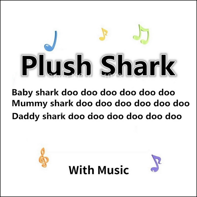 Baby Cartoon Shark Soft Shark Doll Stuffed Plush Toys Mommy Shark Daddy Shark Singing English Whole Song For Kids