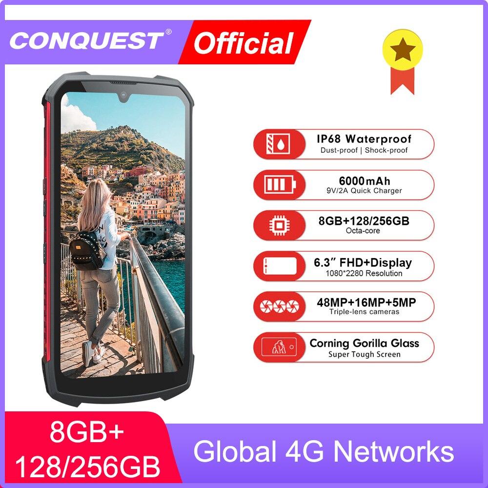 Conquête S16 IP68 antichoc étanche robuste Smartphone Android bouton poussoir téléphones mobiles téléphones portables téléphones mobiles