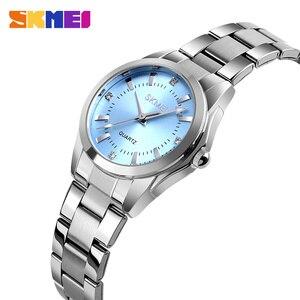 SKMEI Women Watch Stylish Female Wrist Watch Elegant Quartz Watches Waterproof Stainless Steel Women Watches reloj mujer 1620