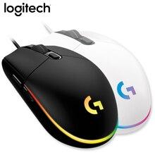 100% oryginalny Logitech G102 dedykowane przewodowa mysz gamingowa optyczna mysz do gier wsparcie pulpit/Laptop/windows 10/8/7