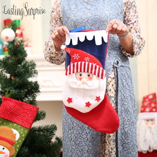 Pendant Ornaments Christmas Candy Gift Bag Stockings Decoration Boot Socks Ornament Party Xmas Supplies