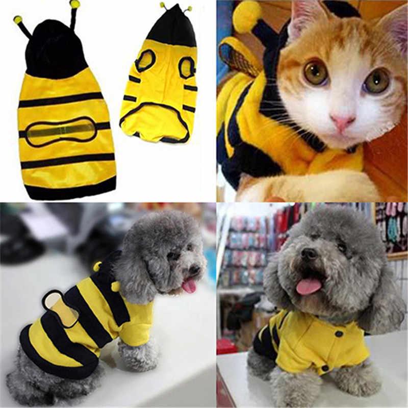 Mascota mascotas Sudadera con capucha ropa linda para gatos ropa de gatito cachorro de lujo disfraz Chihuahua pequeño gato perro abrigo traje de estilo de abeja