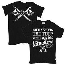 2019 novo curto t-shirts da tatuagem de du hast ein ich bin geschenk curto tee100 % t camisa de algodão
