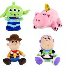 Juguete historia 4 juguetes de peluche, Buzz, Buzz Lightyear Woody Sheriff Hamm cerdo apretar los extranjeros poco verde hombres colgantes llavero de peluche