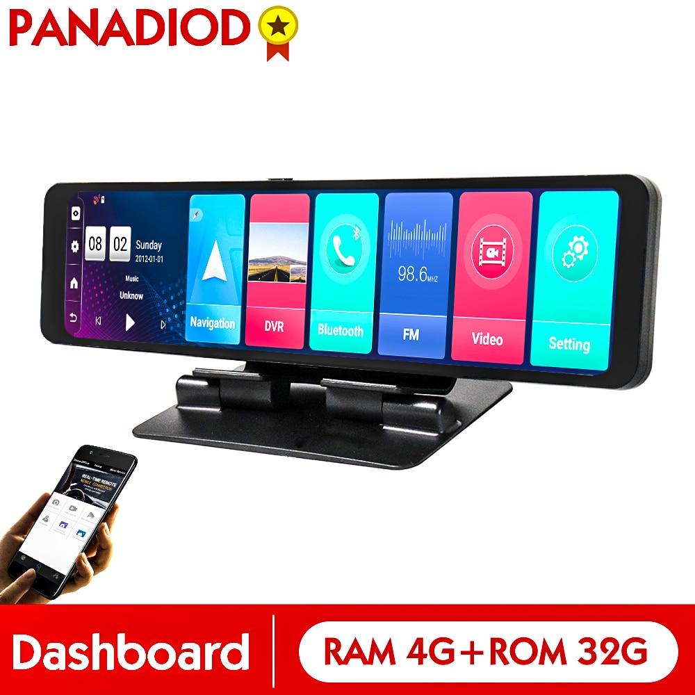 Видеорегистратор автомобильный, 12 дюймов, 4G, Android 8,1, WIFI, GPS, Bluetooth, 4 + 32 ГБ