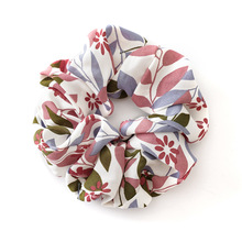 Ladies Creative Floral Scrunchies Ponytail Soft Elastic Hair Bands Women Spring Flower Hair Ties For Girls Accessories Headwear