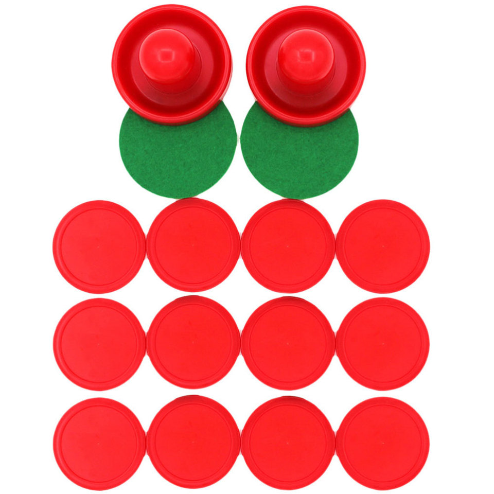 16PCS 76MM Air Hockey Pushers Pucks Replacement for Game Tables Goalies Header K