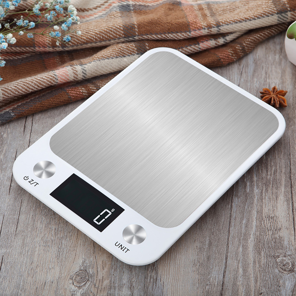 5kg 10kg Kitchen Scale Measuring Tools Weight Balance Scales Libra Digital Stainless Steel LCD Electronic Scales