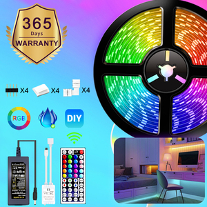 RGB 5050 Remote Control LED Strip Light DC12V 5M/10M/15M Waterproof Flexible Led Light Strip for Home Garden Decoration