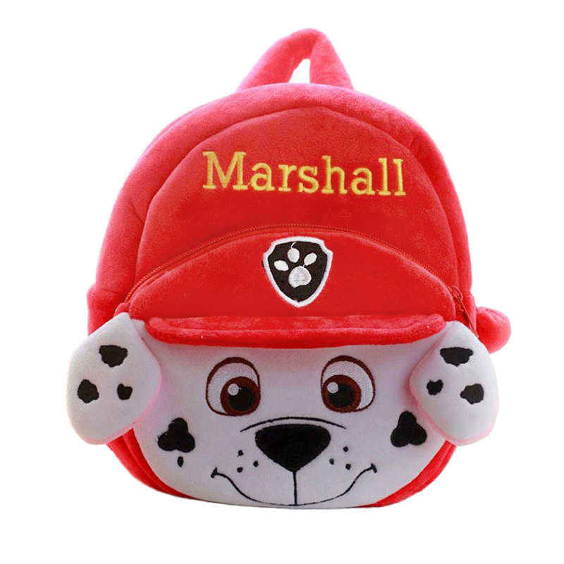 Pata de patrulla Chase perrito patrulla Marshall de dibujos animados patrullando de peluche mochila Chase pequeño perro bolsa suave