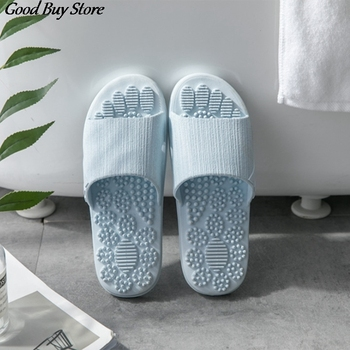 Women Summer Massage Slippers Home Indoor Bathroom Slipper Male Comfortable Floor Flat Shoes Non-slip Bath Zapatillas de hombre fayuekey 2018 new spring summer fashion genuine leather home couples slippers indoor floor outdoor slippers non slip flat shoes